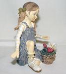 Image de Fille avec des fleurs